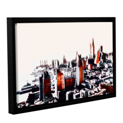 Brushstone New York Gallery Wrapped Floater-FramedCanvas Wall Art
