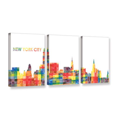 Brushstone New York City 3-pc. Gallery Wrapped Canvas Wall Art
