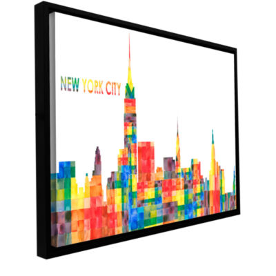 Brushstone New York City Gallery Wrapped Floater-Framed Canvas Wall Art