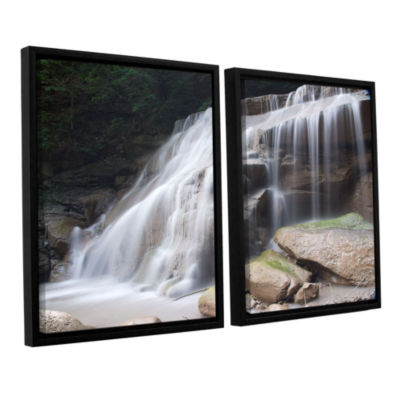 Brushstone New York Rattlesnake Gulf Waterfall 2-pc. Floater Framed Canvas Wall Art