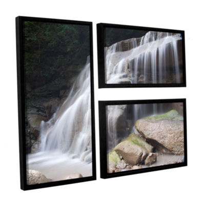 Brushstone New York Rattlesnake Gulf Waterfall 3-pc. Flag Floater Framed Canvas Wall Art