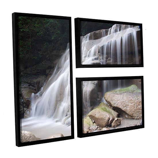 Brushstone New York Rattlesnake Gulf Waterfall 3-pc. Flag Floater Framed Canvas Wall Art