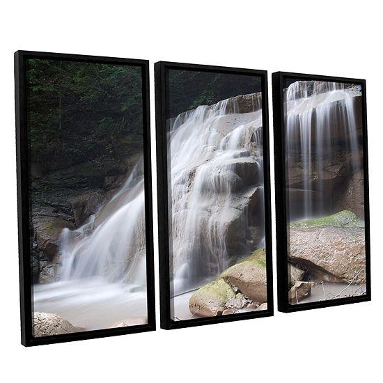 Brushstone New York Rattlesnake Gulf Waterfall 3 Pc Floater Framed Canvas Wall Art