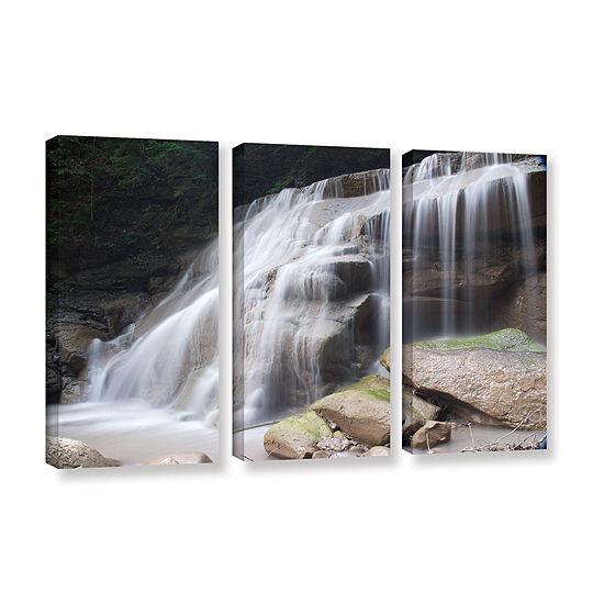 Brushstone New York Rattlesnake Gulf Waterfall 3-pc. Gallery Wrapped Canvas Wall Art