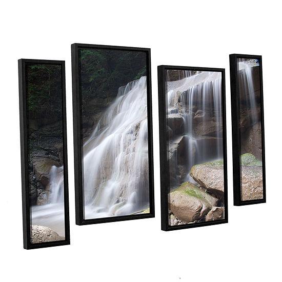 Brushstone New York Rattlesnake Gulf Waterfall 4-pc. Floater Framed Staggered Canvas Wall Art