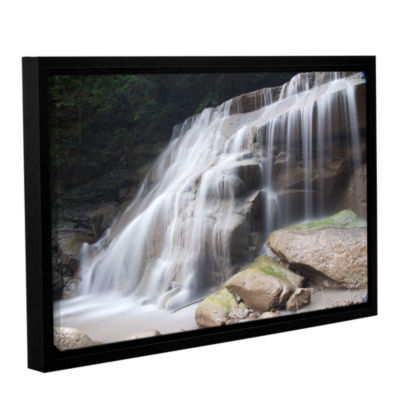 Brushstone New York Rattlesnake Gulf Waterfall Gallery Wrapped Floater-Framed Canvas Wall Art