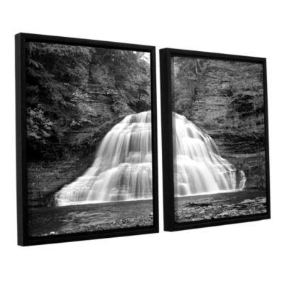 Brushstone New York-Treman Falls 2-pc. Floater Framed Canvas Wall Art