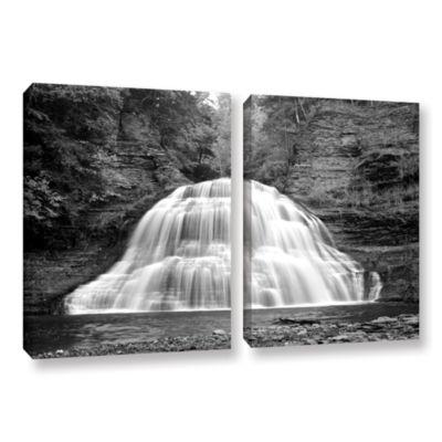 Brushstone New York-Treman Falls 2-pc. Gallery Wrapped Canvas Wall Art