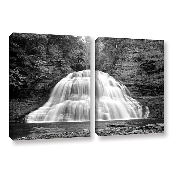 Brushstone New York-Treman Falls 2-pc. Gallery Wrapped Canvas Wall Art