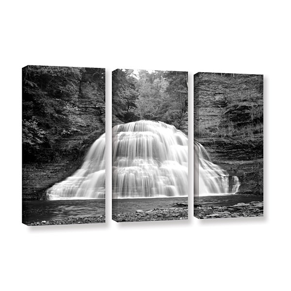 Brushstone New York-Treman Falls 3-pc. Gallery Wrapped Canvas Wall Art