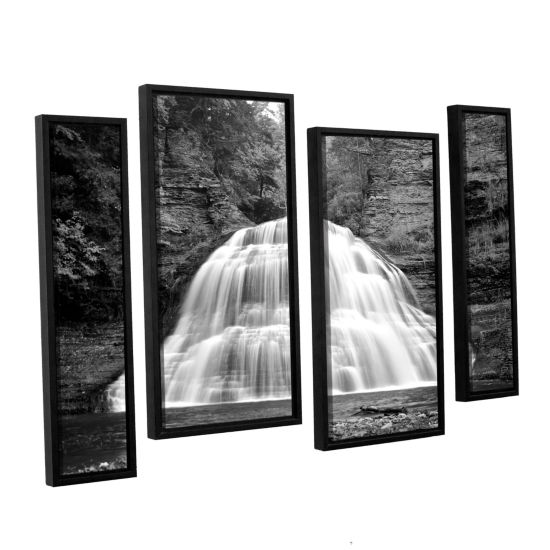 Brushstone New York-Treman Falls 4-pc. Floater Framed Staggered Canvas Wall Art