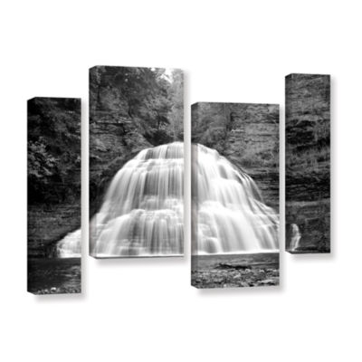 Brushstone New York-Treman Falls 4-pc. Gallery Wrapped Staggered Canvas Wall Art