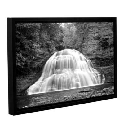 Brushstone New York-Treman Falls Gallery Wrapped Floater-Framed Canvas Wall Art