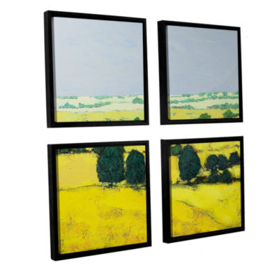 Brushstone Next Hill 4-pc. Square Floater Framed Canvas Wall Art