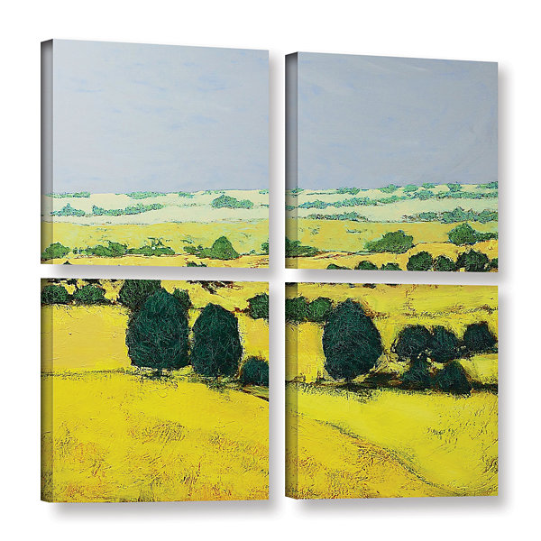 Brushstone Next Hill 4-pc. Square Gallery WrappedCanvas Wall Art
