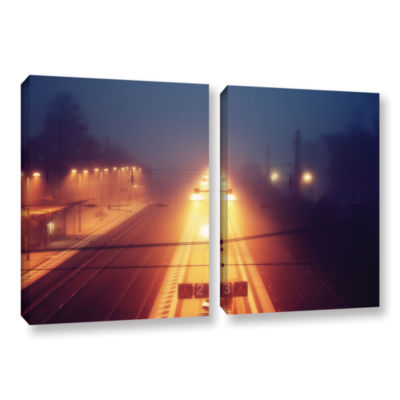 Brushstone Night Adventure 2-pc. Gallery Wrapped Canvas Wall Art