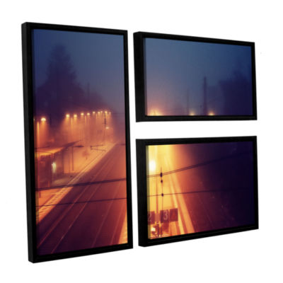 Brushstone Night Adventure 3-pc. Flag Floater Framed Canvas Wall Art