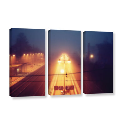 Brushstone Night Adventure 3-pc. Gallery Wrapped Canvas Wall Art