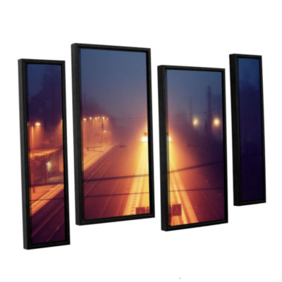 Brushstone Night Adventure 4-pc. Floater Framed Staggered Canvas Wall Art