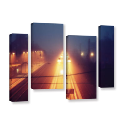 Brushstone Night Adventure 4-pc. Gallery Wrapped Staggered Canvas Wall Art