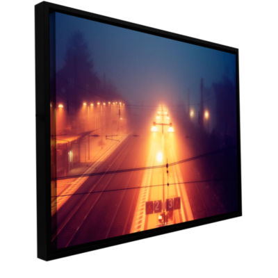 Brushstone Night Adventure Gallery Wrapped Floater-Framed Canvas Wall Art