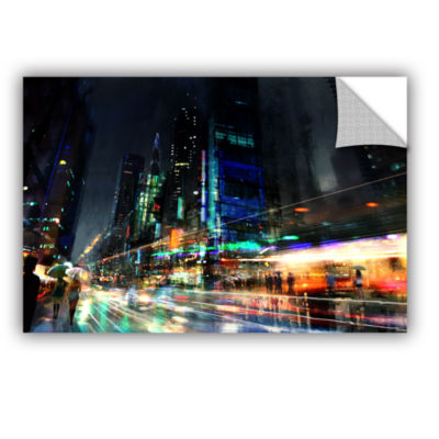 Brushstone Night City 3 Removable Wall Decal