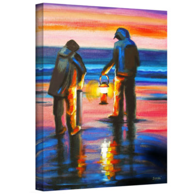 Brushstone Night Clammers Gallery Wrapped Canvas Wall Art