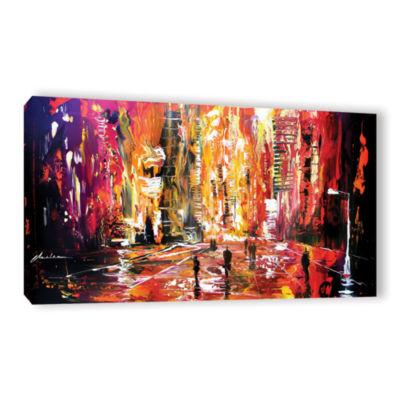 Brushstone Night Life Gallery Wrapped Canvas WallArt