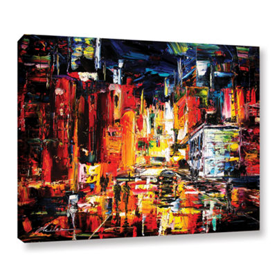 Brushstone Night On The Town Gallery Wrapped Canvas Wall Art