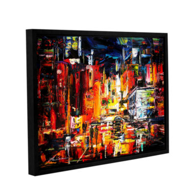 Brushstone Night On The Town Gallery Wrapped Floater-Framed Canvas Wall Art