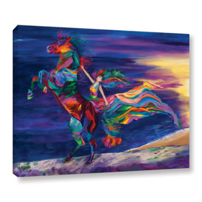 Brushstone Night Ride Gallery Wrapped Canvas WallArt