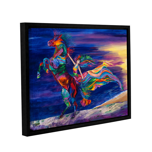 Brushstone Night Ride Gallery Wrapped Floater-Framed Canvas Wall Art
