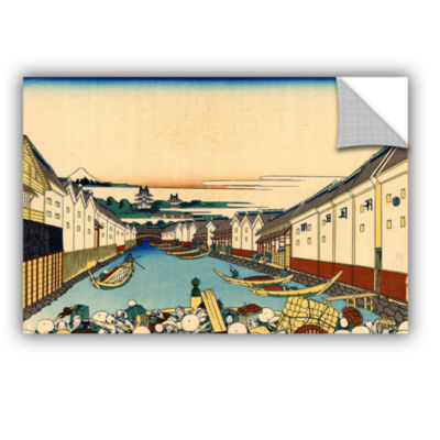 Brushstone Nihonbashi Bridge In Edo Removable WallDecal