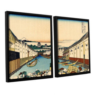 Brushstone Nihonbashi In Edo 2-pc. Floater FramedCanvas Wall Art