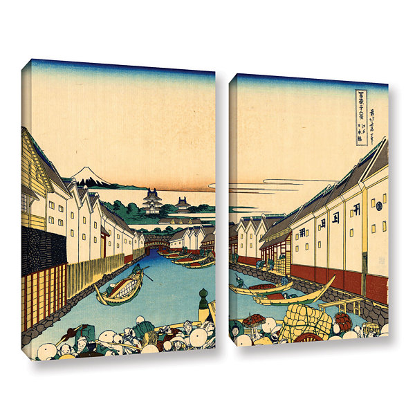 Brushstone Nihonbashi In Edo 2-pc. Gallery WrappedCanvas Wall Art