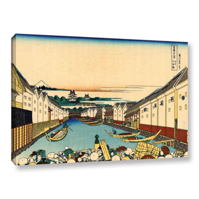Brushstone Nihonbashi In Edo Gallery Wrapped Canvas Wall Art