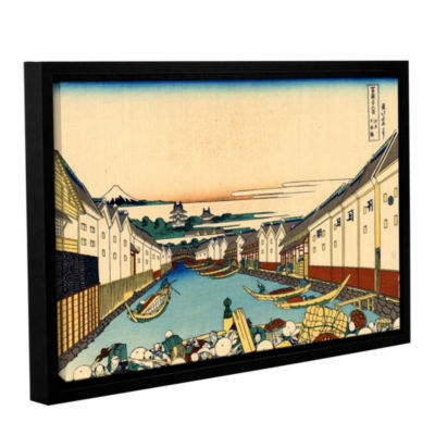 Brushstone Nihonbashi In Edo Gallery Wrapped Floater-Framed Canvas Wall Art