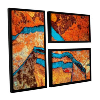 Brushstone Niquesa (165) 3-pc. Flag Floater FramedCanvas Wall Art