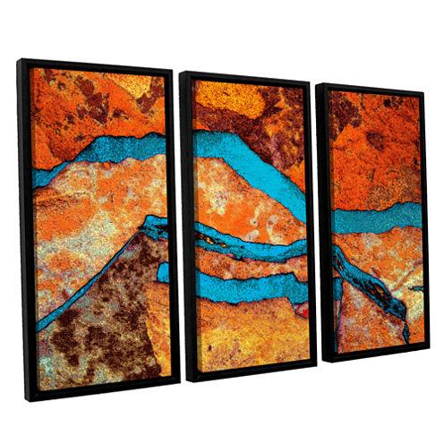 Brushstone Niquesa (165) 3-pc. Floater Framed Canvas Wall Art