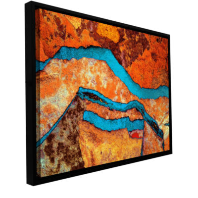 Brushstone Niquesa (165) Gallery Wrapped Floater-Framed Canvas Wall Art