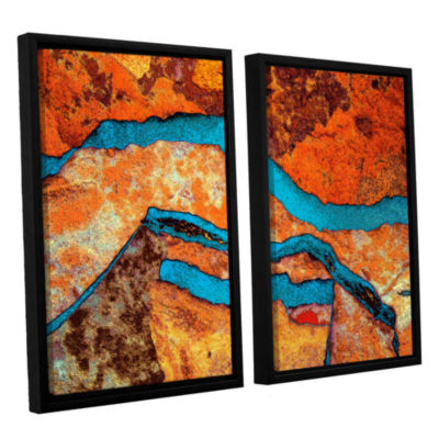 Brushstone Niquesa (216) 2-pc. Floater Framed Canvas Wall Art