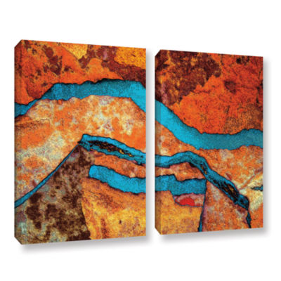 Brushstone Niquesa (216) 2-pc. Gallery Wrapped Canvas Wall Art