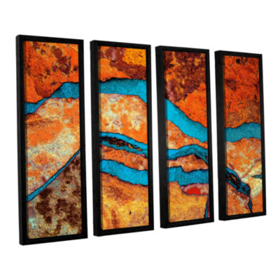 Brushstone Niquesa (216) 4-pc. Floater Framed Canvas Wall Art