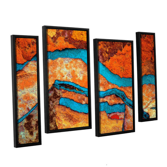Brushstone Niquesa (216) 4-pc. Floater Framed Staggered Canvas Wall Art