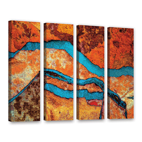 Brushstone Niquesa (216) 4-pc. Gallery Wrapped Canvas Wall Art