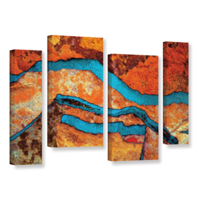 Brushstone Niquesa (216) 4-pc. Gallery Wrapped Staggered Canvas Wall Art
