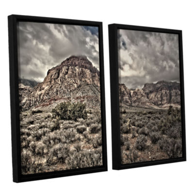Brushstone No Distractions 2-pc. Floater Framed Canvas Wall Art