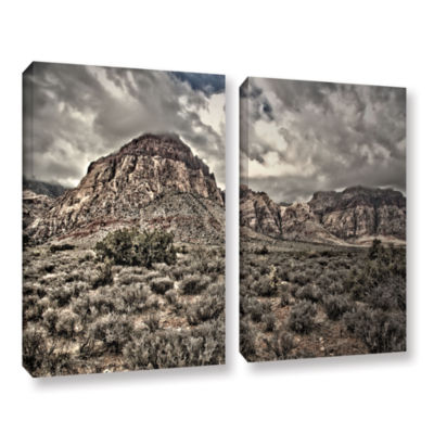 Brushstone No Distractions 2-pc. Gallery Wrapped Canvas Wall Art