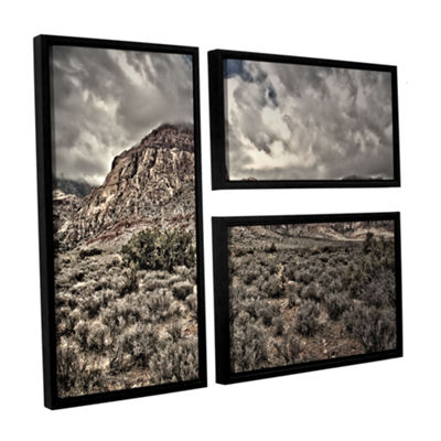 Brushstone No Distractions 3-pc. Flag Floater Framed Canvas Wall Art