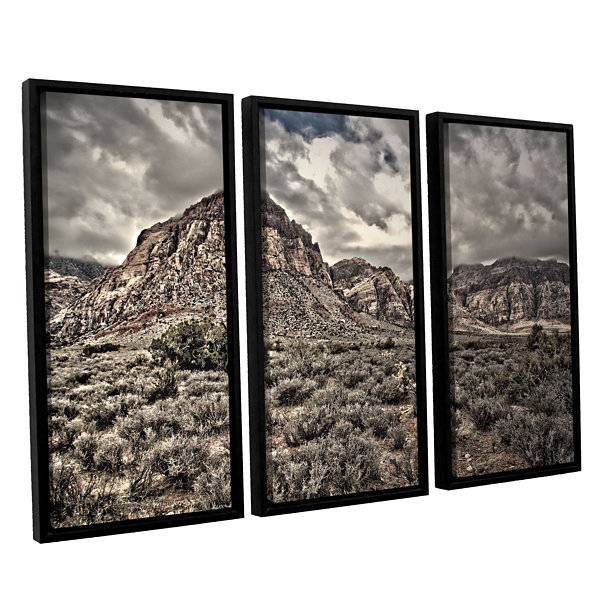 Brushstone No Distractions 3-pc. Floater Framed Canvas Wall Art